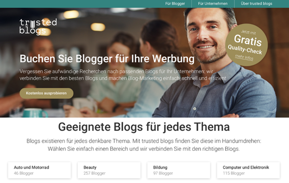 trusted blogs Marktplatz für Blog-Marketing