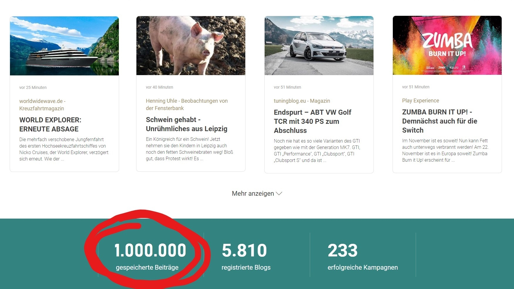 1 Million Blogposts