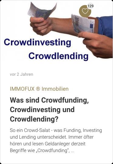 Was sind Crowdfunding, Crowdinvesting und Crowdlending?