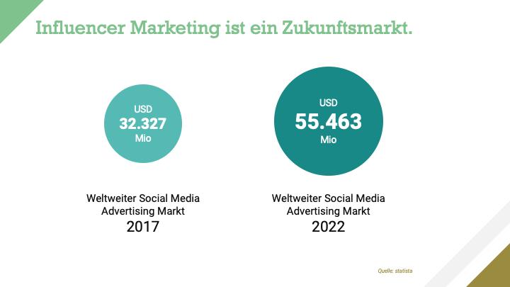 Influencer Marketing Marktvolumen