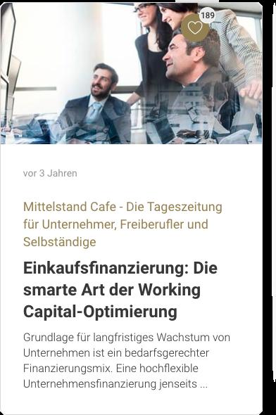 Einkaufsfinanzierung: Die smarte Art der Working Capital-Optimierung
