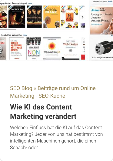 SEO-Küche: Wie KI das Content Marketing verändert