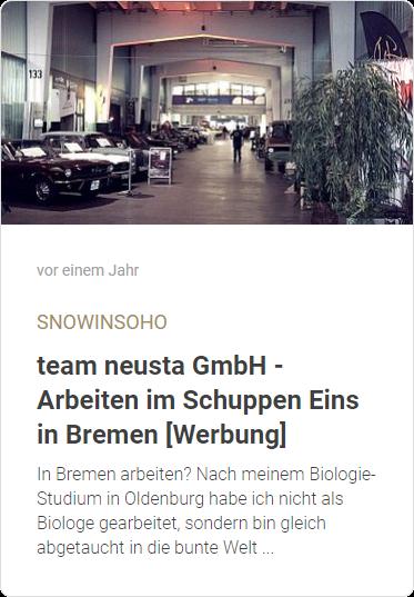 team neusta GmbH - Arbeiten im Schuppen Eins in Bremen